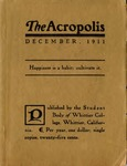 1911 December Acropolis by Whittier College