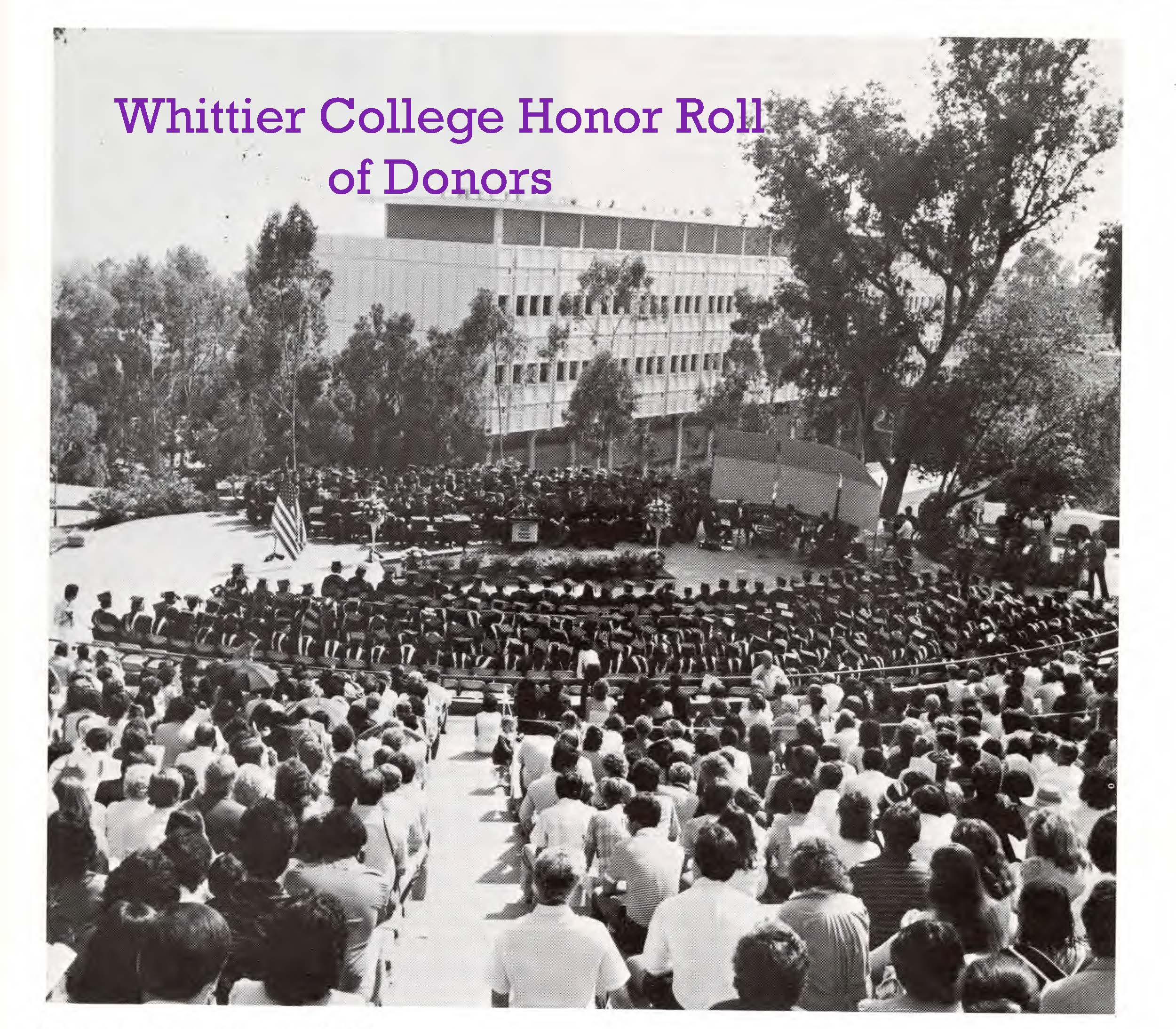 Honor Roll of Donors