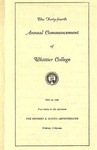 1947 Commencement Program by Whittier College