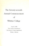 1980 Commencement Program by Whittier College