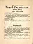 1914 Commencement Program