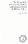 1989 Commencement Program