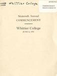 1917 Commencement Program
