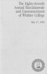 1990 Commencement Program