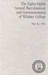 1991 Commencement Program