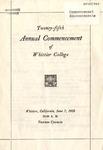 1928 Commencement Program