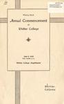 1936 Commencement Program