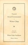 1939 Commencement Program