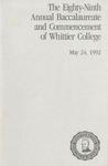 1992 Commencement Program