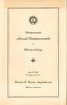 1940 Commencement Program