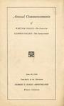 1944 Commencement Program