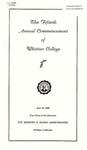 1953 Commencement Program