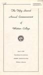 1955 Commencement Program