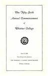 1959 Commencement Program