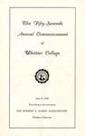 1960 Commencement Program
