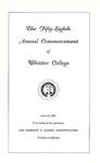 1961 Commencement Program