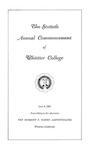 1963 Commencement Program