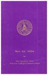 2006 Commencement Program