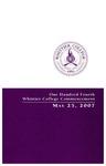 2007 Commencement Program