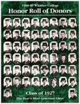 Honor Roll of Donors 1988-1989